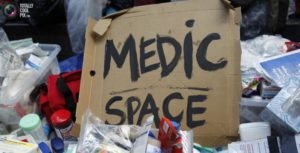street medic space sign